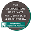 Independently inspected and approved Association of Private Pet Cemeteries and Crematoria Logo